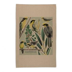 Helmeted-Honeyeater-Tea-Towel